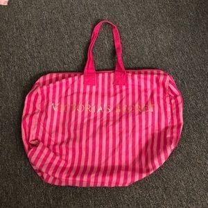 Victoria's Secret Striped Overnight Tote Bag